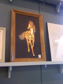 National Thrift Shop Day horse art
