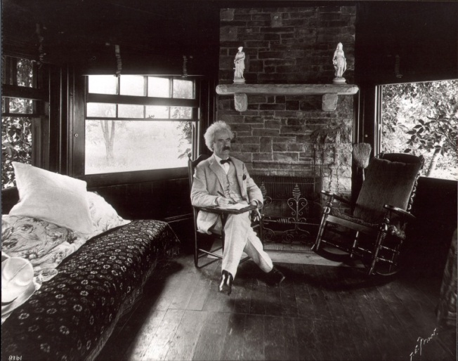 Mark Twain at Quarry Farm house